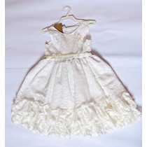 Vestido Em Renda Infantil Gelo