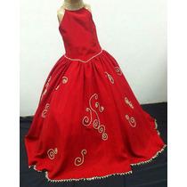 Vestido Infantil Dama/princesa/formatura Vermelho