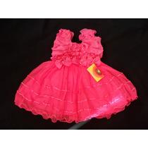 Vestido Infantil Fru-fru Princesa/daminha/florista Pink