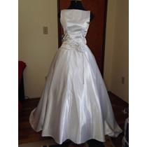 Vestido Noiva Seda Cristal Casamento Seminovo