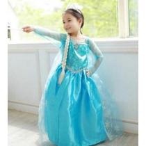 Fantasia Frozen Elsa Vestido Pronta Entrega