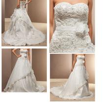 Vestido De Noiva Organza Com Renda E Aplicação De Swarovski