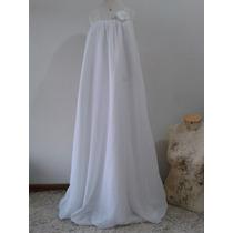 Lindo Vestido De Noiva Boho Chic Exclusivo Branco E Prata