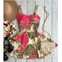 Vestido Boneca Princesa Rodado Estampa Oriental Suplex