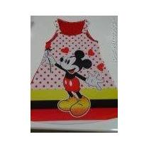Vestido Infantil Mickey 6 A 10 Anos