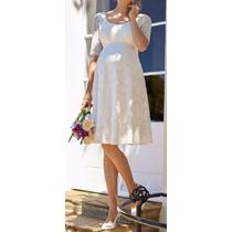 Vestido Noiva Gestante Casamento Civil Simples Renda Festa
