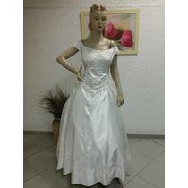 Vestido De Noiva Em Cetim Chanpanhe Modelo Canoa (na111)