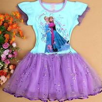 Vestido Princesa Elsa Anna Frozen Pronta Entrega