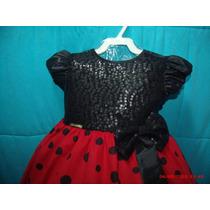 Vestido De Festa Minnie Tam 1 , 2 E 3 Anos !!