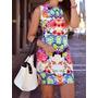Vestido Estampa Floral Psicodelico H&m Primavera Verão