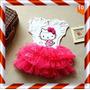 Vestido Infantil Hello Kitty Tutu Nº-6 - Pronta Entrega