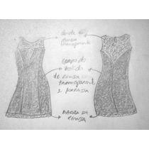 Molde 10 Vestido De Renda Transparente Forradofrete Gratis