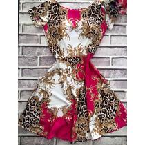 Vestido Rodado Estampado Estilo Boneca Princesa