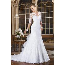 Vestido Noiva Bordado Luxor Importado Frete Grátis