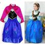 Fantasia Vestido Frozen Elsa Anna Tam 6-7 Anos Pronta Entreg