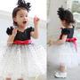 Vestido Infantil Princesa Menina Social Festa Vermelho