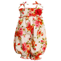 Bonnie Baby Bebe Importado Macacoes Outfit Floral Tam 4 Anos