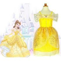 Fantasia Vestido Disney Bela E A Fera Pronta Entrega Oferta