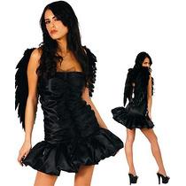 Fantasia Anja Negra Vestido Tomara Que Caiatam. P P(34 A 36)