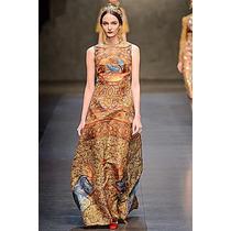Vestido Inspired D & G (38/40/42) Pronta Entrega No Brasil