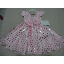 Vestido Infantil Festa Bolinhas Prateadas Pepa 1 Ano