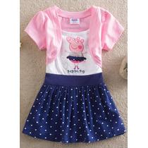 Vestido Infantil Peppa Pig - Frete Grátis