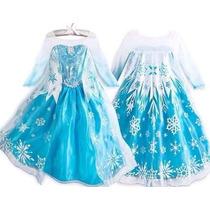 Fantasia Vestido Frozen Elsa Ou Ana Disney Luxo P. Entrega