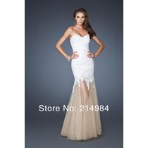 Vestido Longo Noiva Luxo De Renda Importado Pronta Entrega