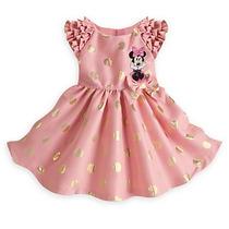 Vestido Minie Mouse De Festa Luxo Disney Store Original 4ano