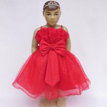 Vestido Infantil De Festa Princesa Com Alças-pronta Entrega