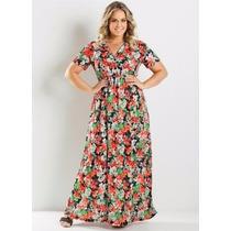 Vestido Longo Plus Size Feminino Roupa Tamanho Grande