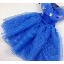 Vestido Fantasia Infantil Princesa Cinderela Frete Gratis