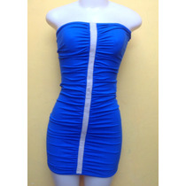 Vestido Feminino Colado Azul Malha Coca Cola M