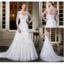 Vestido De Noiva De Renda 3 Pessas Pronta Entrega