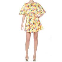 Mini Vestido Estampa Étnica Costas Transpassadas Casual