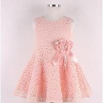 Vestido Infantil De Renda Importado