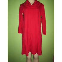 Vestido Gola Boba Vermelho Tamanho M