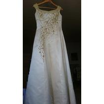 Vestido De Noiva Cor Pérola - Maneq 40/42