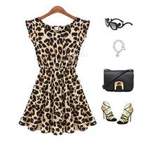 Vestido Oncinha Onça Leopardo Pronta Entrega