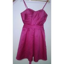 Vestido Festa Em Tafetá - Rosa - M - Usado 1 Vez