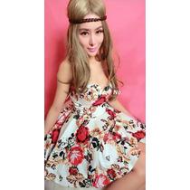 Vestido Festa Flores Princesa Tomara Que Caia Pronta Entrega