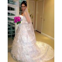 Vestido De Noiva Luxuoso Importado Pronta Entrega