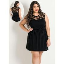 Vestido Detalhe Renda Romântico Plus Size - Barato!!!!