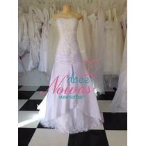 Vestido Noiva Sereia Cintura Baixa Pronta Entrega Promoção