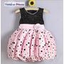Vestido Festa Infantil Bebê Minnie Bolinhas - Pronta Entrega