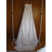 Vestido De Noiva Longo Casamento Tamanho 42 Médio Novo