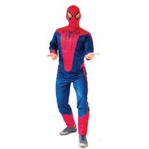 Fantasia Homem Aranha Com Peitoral Luxo Imp Tam. P (38 A 40)