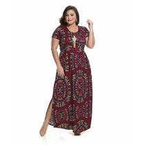 Vestido Longo Festa Moda Plus Size Jersey Acetin Frete Gráts