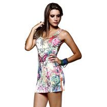 Roupas Femininas Vestido Curto Casual Festa Importado Rf1010