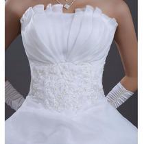 Vestido De Noiva Tomara Q Caia Drapeados, Babados, Renda